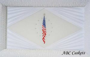 American Flag Panel with Diamond Rays on Both Sides