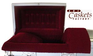Burgundy Velvet Interior with Six Column Panel