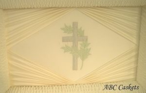 Cross with Leaves with Diamond Ray