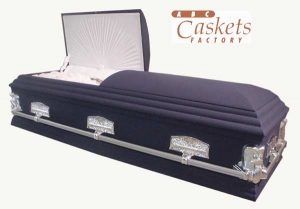 Fireman's Casket with Last Supper Hardware