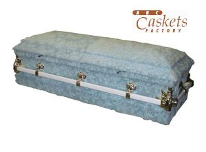 Child 4' Casket, High Pile Blue