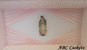 Lady Guadalupe Head Panel with Pink Diamond Ray