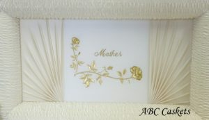 Mother Panel in Gold Thread, Vanilla Cream Satin