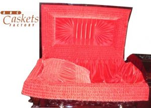 Firebird Red Velvet Interior With Flute Center, Double Center Rays