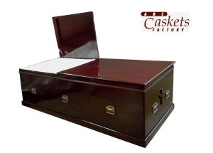 "500 lb. custom for Cremation Casket, 28"" H 34"" W (doorway size), With herringbone beading, 300 base molding, & Antique gold handles"