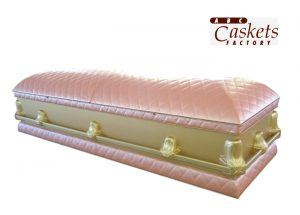 Chanel Style Pink & Gold Casket, Closed
