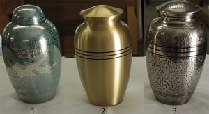 1. Doves and Blue Dome 2. Classic Bronze 3. Silver Antique