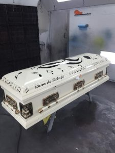 Custom Painted Music Casket