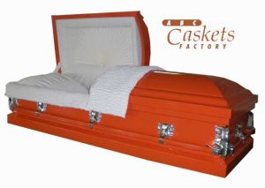 Orange Metal Casket