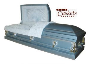 Serenity Casket with Blue Satin Interior
