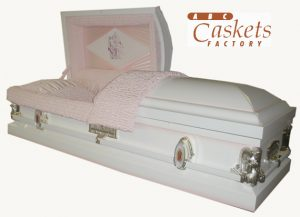 Custom Angel Wing Metal Casket