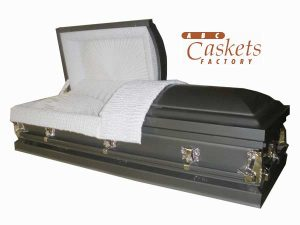 Dark Gray Metal Casket